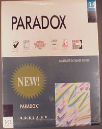 Borland Inprise Corel Paradox Version Information